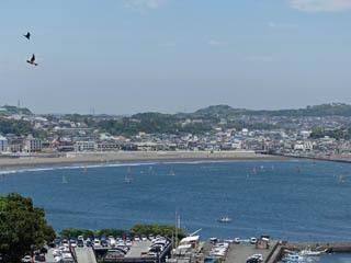 向こうに見えるのはTAKUMA湾なんだって