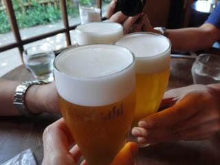 生ビール美味しいね